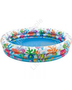 Intex 3 Ring Inflatable Fish Pool  132cm x 28cm