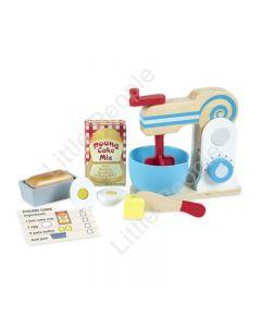 Melissa and Doug Wooden Make-a-Cake Mixer Set