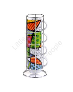 Disney Britto Stacked Cups – Hearts Patterns Figurine