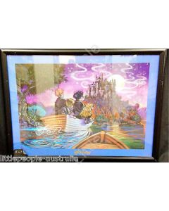 Harry Potter Boat Ride Framed Cartoon Artwork