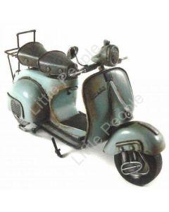 MOTORCYCLE VESPA LIGHT BLUE 31CM Tin Boyle Automobelia