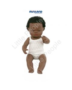 Miniland Anatomically Correct Educational Baby Doll African Boy 38 cm