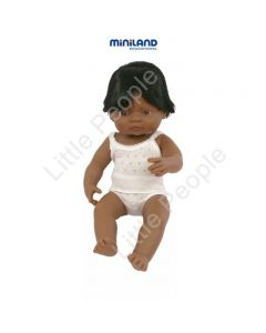 Miniland Anatomically Correct Educational Baby Doll  Latin American Boy, 38 cm
