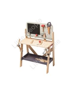 EverEarth NEW Lge Wooden Carpenters Work Bench Kids Pretend Play Eco-Friendly