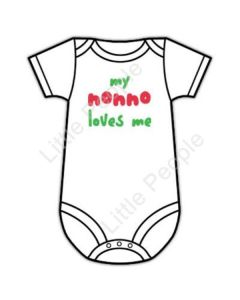 My Grandfather Loves Me 3-6mths Italian Baby Grow Suit