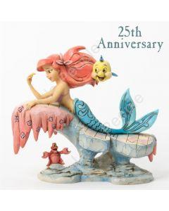 Jim Shore Dreaming Little Mermaid 25th Ann Figurine Disney Traditions