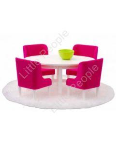 Lundby Smaland Pink Dinning Room Set