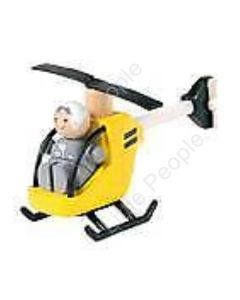 Plan Toys - Yellow Helicopter With Pilot PT6060