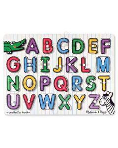 Melissa & Doug Alphabet Wooden Peg Puzzle (26 pcs)