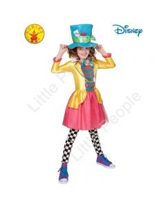 MAD HATTER GIRLS DELUXE COSTUME (LARGE POLYBAG), TEEN 9-10