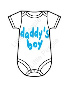 Daddy's Boy 6-12mths Baby Grow Suit