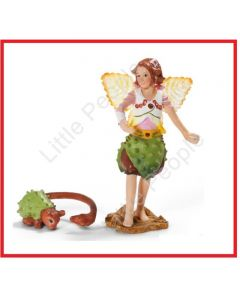 Schleich Bayala Chestnut Elf With Fellow Fantasy Figurine World Of Elves Toy 704