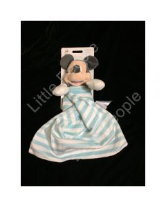 Disney Baby - Mickey Mouse Comforter Stripe Blanket DOUDOU Soother Baby Soft Toy