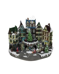 Roman inc 5.5 LED Musical Animated Town Center Christmas last one