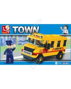Sluban Compatible Building Blocks  School Bus NEW  105 Pieces