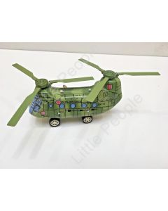 Tin Chinook CH-47D Toy Royal Air Force Helicopter Clockwise Windup