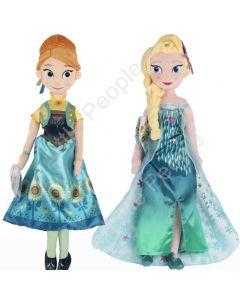 Disney 50cm Elsa Anna Plush Doll Toy