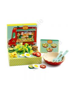 Djeco Salad Making Set wooden and felt  ingredients