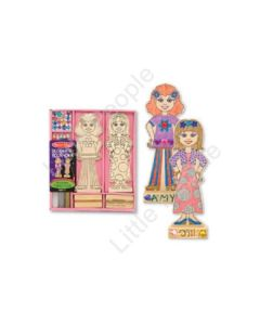 Melissa and Doug Design Your Own Wooden Fashion Dolls