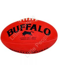 BUFFALO SPORTS  Soft Touch PVC Full Size 26cm Red Aussie Rules Football
