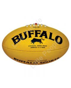 BUFFALO SPORTS  Soft Touch PVC Full Size 22cm L Yellow Aussie Rules Football
