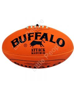 BUFFALO SPORTS  Soft Touch PVC Full Size 28cm Orange Aussie Rules Football