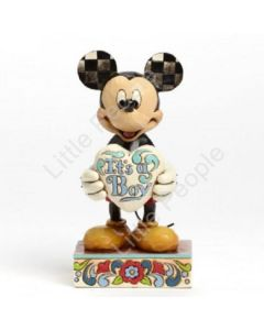 Jim Shore Disney Traditions It's A Boy New Baby Boy Mickey Mouse Figurine EOL