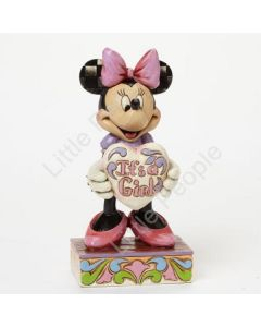 Jim Shore It's a Girl - Minnie Mouse Figurine Disney Traditions Retired