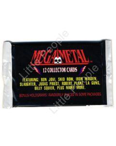 Mega Metal Collector Cards x 3 packs