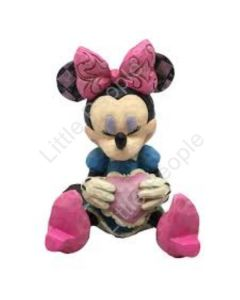 Jim Shore Mini Mouse with Heart Figurine Disney Traditions