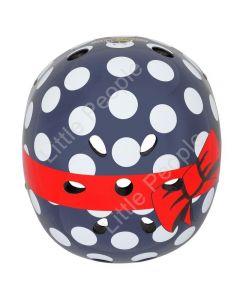 Mini Hornit  Kids Bicycle Helmet Polka Dot Small  LED:  48-53cm  LED