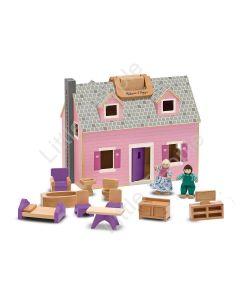 Melissa & Doug - Fold And Go Dollhouse