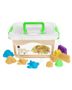 Sensory Magic Sand with Moulds 2kg Tub Natural Non Toxic