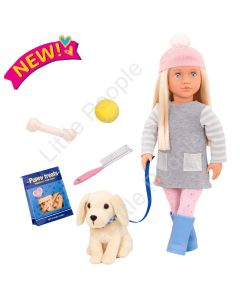 Our Generation-MEAGAN DOLL WITH GOLDEN RETREIVER
