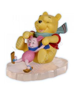 Disney Showcase - Pooh & Piglet Ice Skating - Precious Moments Figurine last one