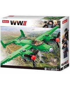 Sluban Building Blocks  Army WW2 TUPOLEV TU Bomber 311 pcs B0688