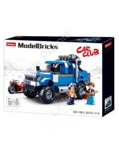 Sluban Compatible Building Blocks  4WD BLUE B0813