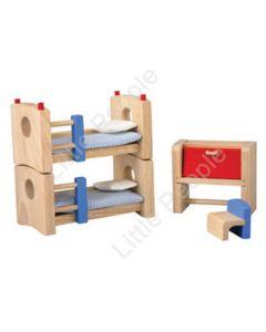 Plan Toys -Wooden Children  Bedroom Set Neo New 5 Piece