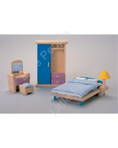 Plan Toys -Wooden Bedroom Set Neo New 5 Piece