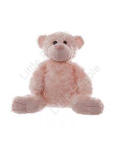 Rosette Teddy Bear Pink (32cm HT)