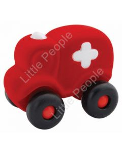 Rubbabu Large Red ambulance Infant Pretend Play