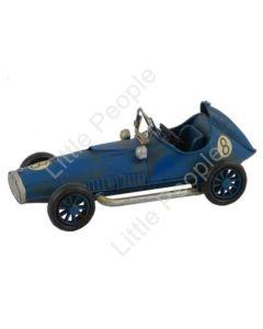 Race Car Blue 16cm Tin Collectable Gift