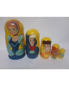 Russian Doll Wooden Matryoshka Babushka - Cartoon - Cinderella and Friends