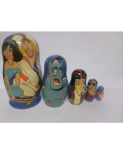 Russian Doll Wooden Matryoshka Babushka - Cartoon - Aladdin and Friends