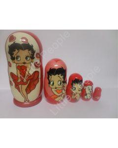 Russian Doll Wooden Matryoshka Babushka - Cartoon - Betty Boo Set