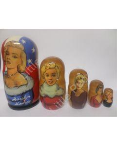 Russian Doll Wooden Matryoshka Babushka  - Personalities - Marilyn Monroe