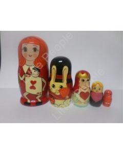 Russian Doll Wooden Matryoshka Babushka  - Hearts