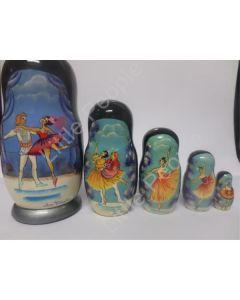 Russian Doll Wooden Matryoshka Babushka  - Dancing Ballerina