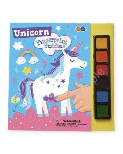 Buddy & Barney Fingerprint Buddies Book with Ink Pads - Unicorn