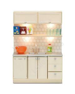 Lundby Smaland Kitchen Set with Dishwasher & Sink (Lights up)